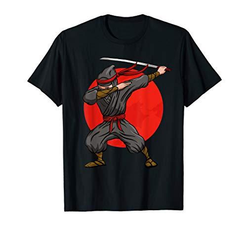 Dabbing Ninja T-Shirt Funny Martial Arts Halloween Dab Tee
