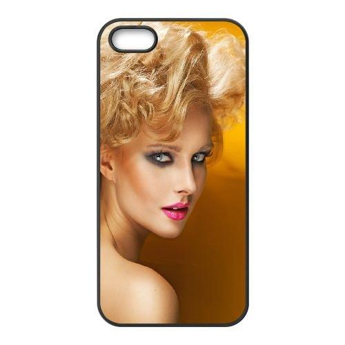 Blonde Hair Face Makeup Look 92258 coque iPhone 4 4S cellulaire cas coque de téléphone cas téléphone cellulaire noir couvercle EEEXLKNBC23668