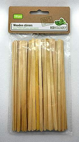 AM/63 Rührstäbchen aus Holz, 100 Stück