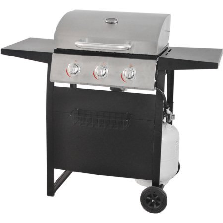 RevoAce 3-Burner LP Gas Grill with Stainless Steel Unbranded