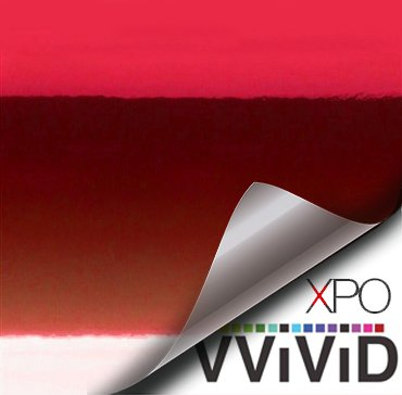 Red Mirror Chrome Vinyl Wrap Self Adhesive Film Decal Air-Release Bubble and Air-Free 3mil-VViViD8 (2ft x 5ft)