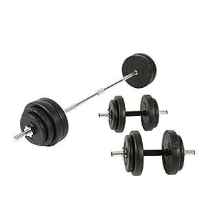 Amazon.com : Sunny Health and Fitness 100lb Vinyl Barbell