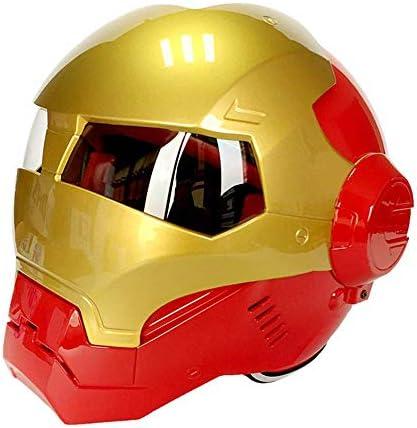 ヘルメット、モトクロスヘルメット、ビーチレースオフロードヘルメット、人格フリップフロントオートバイヘルメットアイアンマンフルサイトヘルメットD. O. T公認ロードレース成人用ユース