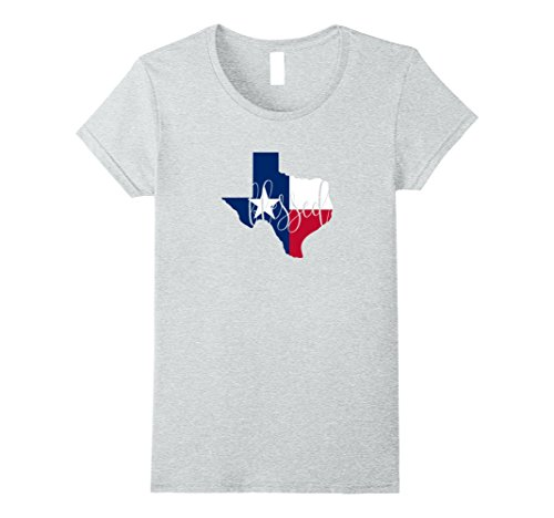 Womens Blessed In Texas With Flag Patriotic T-Shirt Medium Heather Grey