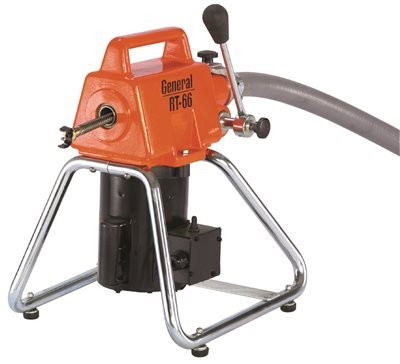 General Wire Root 66 Drain/Sewer Cleaning Machine W/ 11 Cables, 2 Cutter Sets & Tool Box,RT-66-D