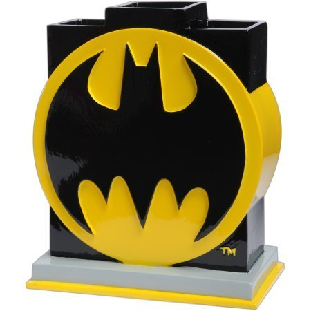 Batman Logo Toothbrush Holder for Kid's Bathroom, 100% Polyresin