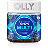 OLLY Perfect Men's Multivitamin Gummy Supplement, with Lycopene & Zinc; Blackberry Blitz; 90 count (45 Day Supply)