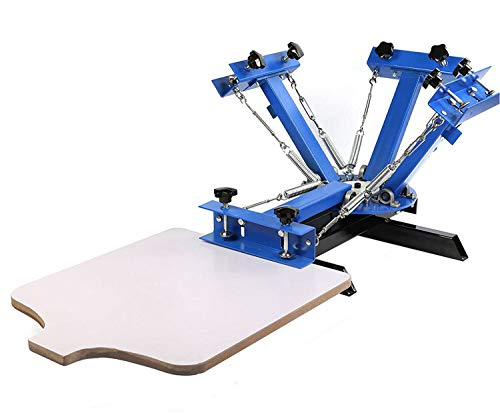 - SHZOND Screen Printing Press 4 Color 1 Station Silk Screen Machine 21.7