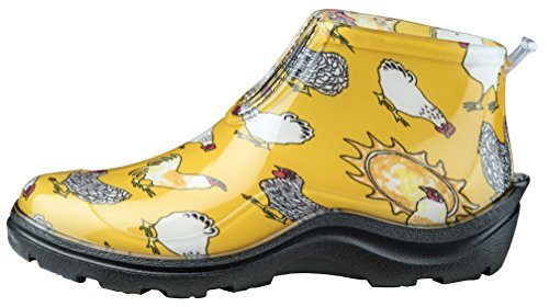 Sloggers Women's Waterproof Rain and Garden Ankle Boot with Comfort Insole, Chickens Daffodil Yellow, Size 9, Style 2841CDY09 - Image 1