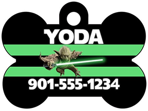 Disney Star Wars Yoda Dog Tag Pet Id Tag Personalized w/ Name & Number]()