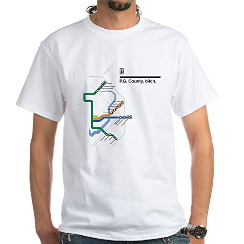 CafePress 2 Pg_County_Shirts_White T Shirt 100% Cotton T-Shirt, White