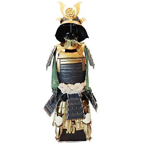 Japanese Warrior Small Armor Model, Antique Hyperthyroidism Warring States Gifts Collectible Desktop Decoration Home Arrangement Iron Art Used for bar Cafe Home Decor-Antique