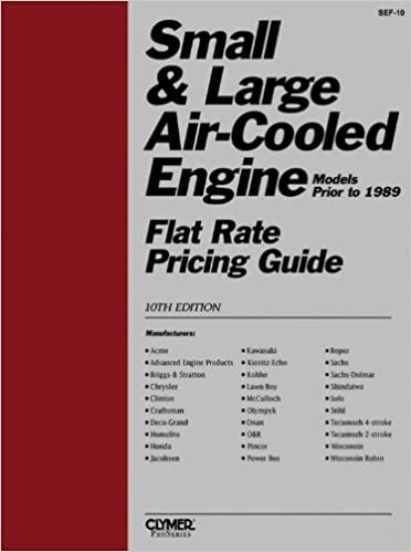 Small and Large Air-Cooled Engine Flat Rate Pricing Guide 10th Edition
