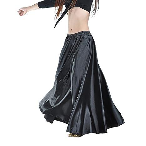 Belly dance beginer NEW Satin Long Skirt Swing Belly Dance Costumes Plus Size