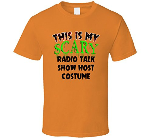 This is My Scary Radio Talk Show Host Halloween Cool Trending Job T Shirt L Orange -