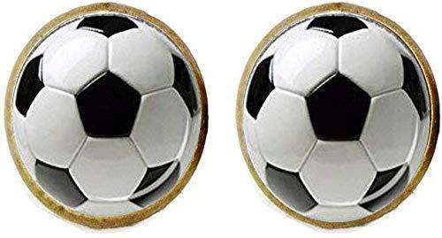 Pendientes de balón de fútbol, diseño de balón de fútbol, joyería ...