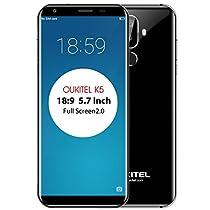 OUKITEL K5 - 5.7 inch HD (18:9 ratio) Android 7.0 4G smartphone, 1.5GHz quad core 2GB+16GB, 4000mAh Battery, Triple camera