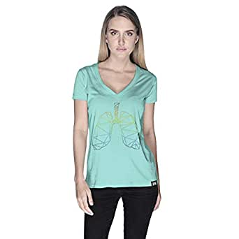 Creo Lungs Animal T-Shirt For Women - M, Green