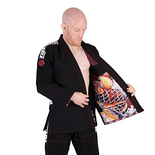 Tatami Fightwear Japan Series Maple Koi BJJ Gi Black por Tatami Fightwear
