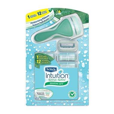 Schick Intuition Sensitive Care (Razor Handle + 12 Cartridges) x2