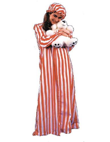 Nightgown And Cap Costume (WMU 558556 Cotton-Polyester Nightgown and Cap Ladies)