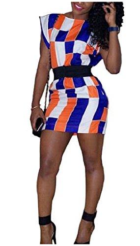 Delle Mini Donne Vita Colore Vestito Stampate Giuntura Il Floreali In Accettare Come Aderente Della Coolred Immagine XzgdrqcRX
