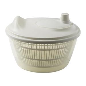 TOKIG Salatschleuder, Weiß, Durchmesser: 23 cm H: 14 cm, das Bodenteil können...