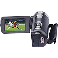 Video Camera Camcorder, 720P 24MP 16X Digital Vedeo Zoom DV Camera with 3 TFT LCD 270 Degree Rotation Screen, Black