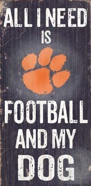 Fan Creations c0640 Clemson University Fußball and my dog sign by Fan Creations