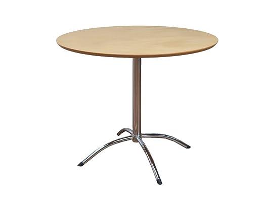 Muebles Link Soho 90 cm mesa redonda, Natural: Amazon.es: Hogar
