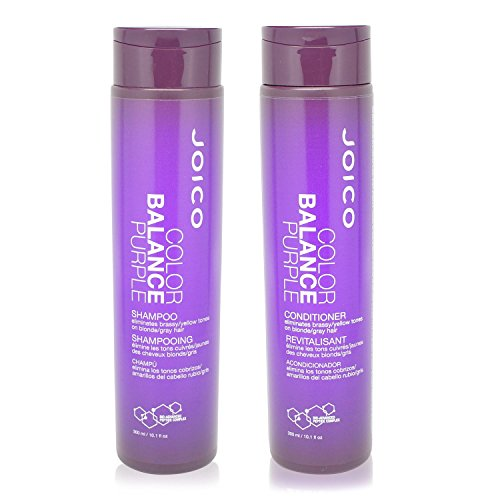 Joico Color Balance Purple Shampoo Plus Conditioner 10.1 oz. (Shampoo And Conditioner For Blonde Highlighted Hair)