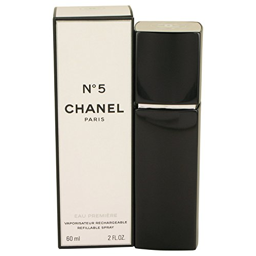 Chanel No 5 Eau De Parfum Spray (Chanèl Nò. 5 Perfŭme For Women 2 oz Eau De Parfum Premiere Refillable Spray + a FREE Body Cream)