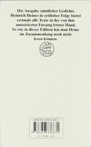 Sämtliche Gedichte In Zeitlicher Folge Heinrich Heine