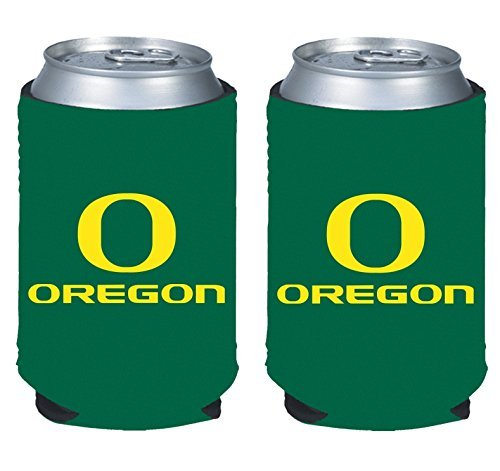 NCAA College 2014 Team Logo Color Can Kaddy Holder Cooler 2-Pack (Oregon Ducks) (Oregon Ducks Tailgate Cooler)