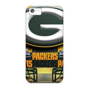 Durable Case For The Iphone 5c- Eco-friendly Retail Packaging(green Bay Packers)