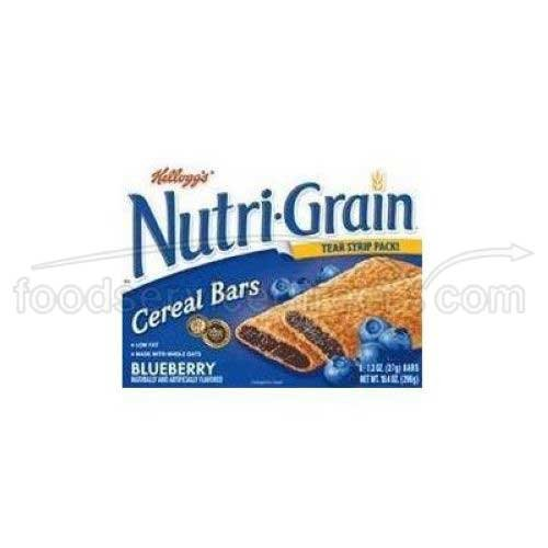 Kelloggs Nutri-Grain Blueberry Filled Cereal Bar, 10.4 Ounce -- 12 per case. by Kellogg's