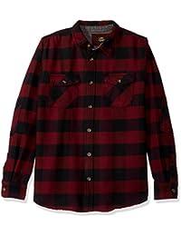 Men's Long Sleeve Heavy Twill Stretch Shirt Jacket