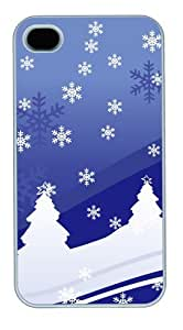iphone 4 case make Vector Christmas Design PC White for Apple iPhone 4/4S