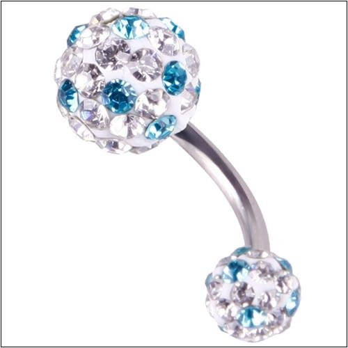 CALISTOUS 1Pc Crystal Rhinestone Ball Belly Ring Sweet Cute Funky Popular