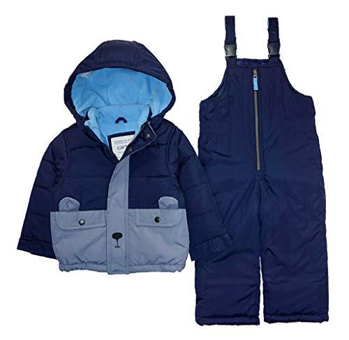 Carter's Boys' Toddler Heavyweight 2-Piece Skisuit Snowsuit, Navy Bear, 4T