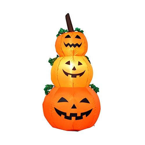 Chenway Inflatable Pumpkin Decoration Halloween Decorations Outdoor Inflatable Garden Indoor Outdoor Decoration 4 Ft (A)]()