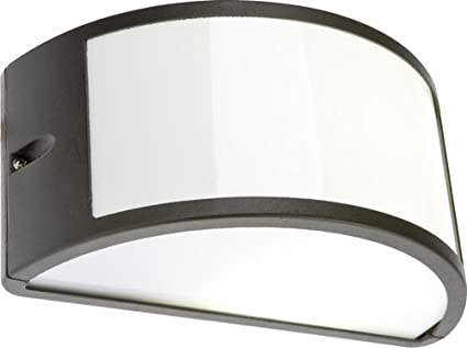 Plafoniere Con Lampadina A Vista : Lampada applique nera plafoniera da esterno mezzaluna cm