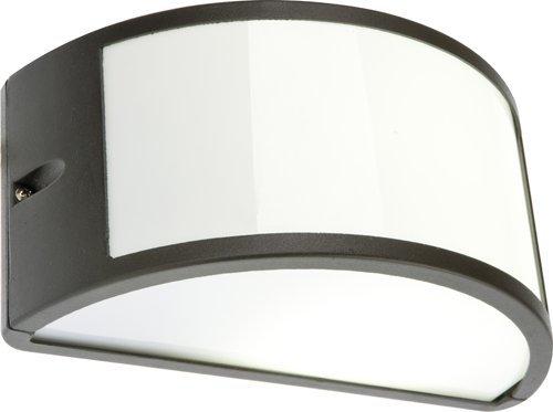 Plafoniera Con Lampada A Vista : Lampada applique nera plafoniera da esterno mezzaluna cm