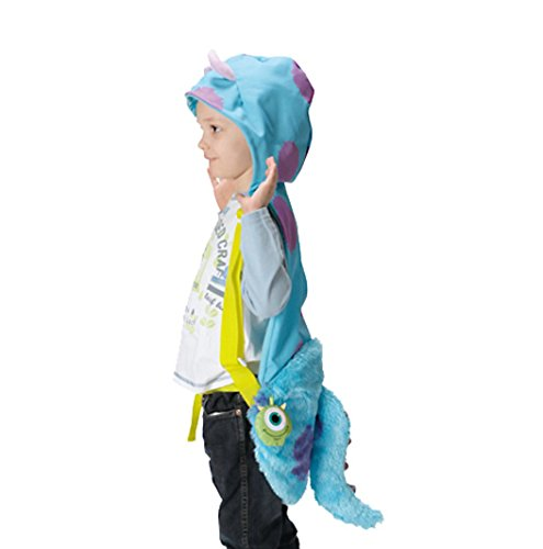 Monsters Inc-- Sulley Hood & Pouch (covers lower quadrant) -- Young Child (Art Monsters University Halloween Costume)