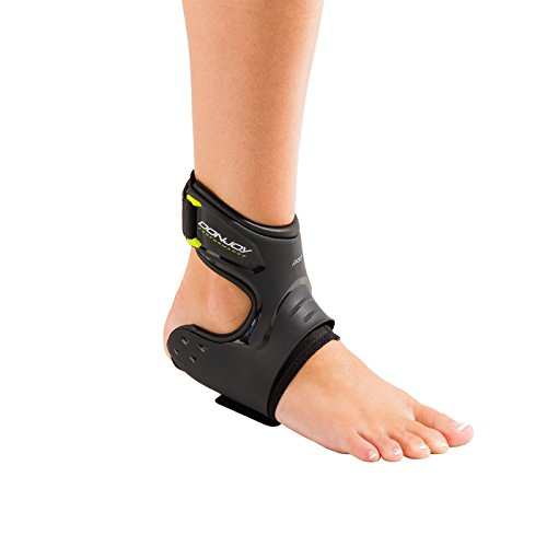 DonJoy Performance POD Ankle Brace, Best Support for Stability, Ankle Sprain, Roll, Strains for Football, Soccer, Basketball, Lacrosse, Volleyball - Medium - Right - Black