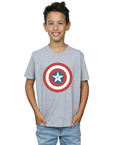 di America War Shield Civil T Boy Captain grigia Marvel sportiva shirt qxgxw0zCt