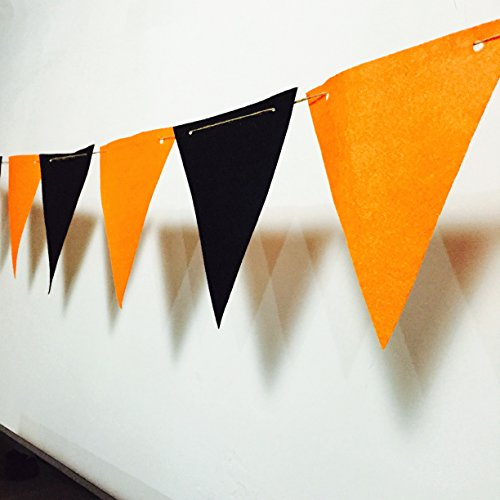 Halloween Party Decoration 6 Feet Fabric Hanging Flag Home Decor Banner Bunting ()