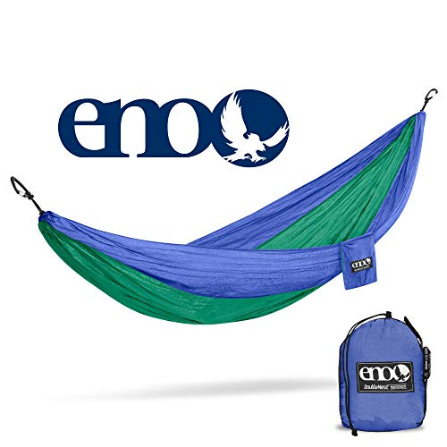 Eagles Nest Outfitters - ENO DoubleNest Hammock, Portable Hammock for Two, Royal/Emerald (FFP)