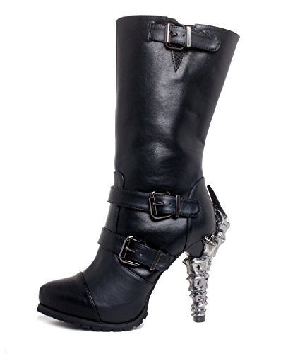 Heavy Inspired Hades Boots Biker Black Shoes Metal Arma FnERgEq