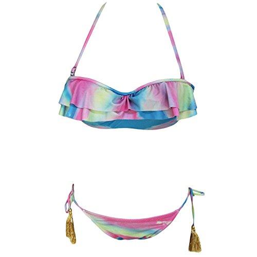 X&L Sommer hängen Hals, Bikini, sexy, laminiert, Volants, zweiteilige, split, Bademode